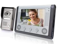 "7"" TFT Color Display Wired Video Door Phone Doorbell Intercom System-SY801MF11"