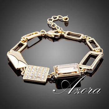 Азора великолепная 18 К позолоченный Stellux австрийский хрусталь браслеты TS0040