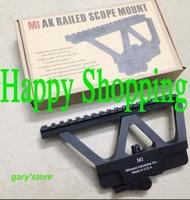 Quick Detach AK Railed Scope Mount Picatinny Side Rail Mounting system Matte for AK-47, AK-74