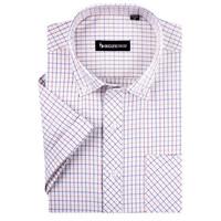 2014 Brand High Quality Short Sleeve plaid shirt shirts Oxford xxxl Low Price Free shipping DXN16