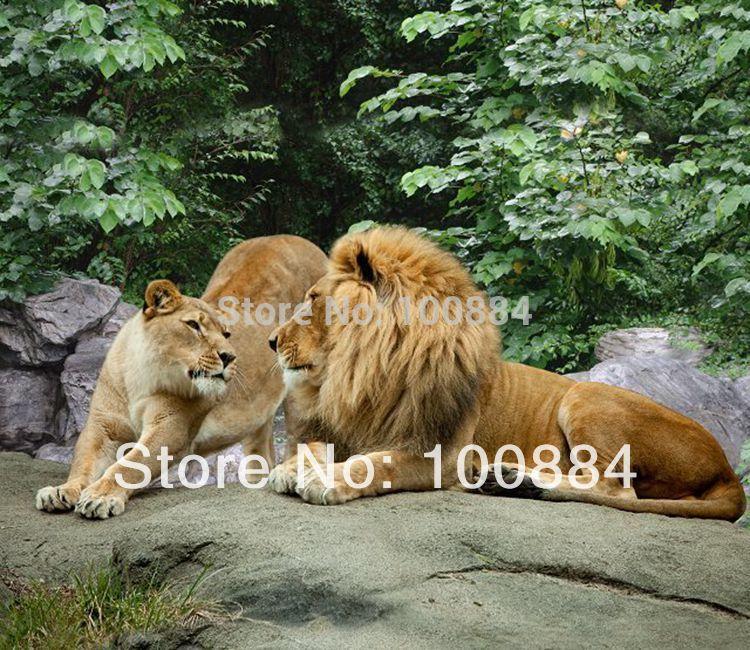 3d lion comforter set bedding,4pc bedding sets without filler,gold lion bedspreads,lion animal 3d bedding queen size(China (Mainland))