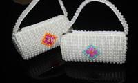 Latest Design handmade perla beads beading  Handbags for women /girls/kids  beach wedding  / party /any events