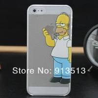 For iphone 5 5s case new product transparent simpsons cell phone back skin cases cover for iphone5 free shipping