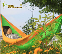 Versatile lightweight parachute cloth hammock double hammock couple relaxing indoor and outdoor camping 10pcs/lot