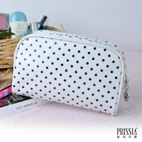 LZ bags Beatrice black and white dot Small fresh storage bag cosmetic bag  waterproof querysystem 12*18*6cm