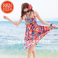 Beach dress bohemia short petticoat suspender underdress one-piece dress summer  female