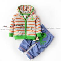 Fashion new 2014 Spring-autumn children clothing set  baby boys suits long-sleeve T-shirt+long pants  kids twinset