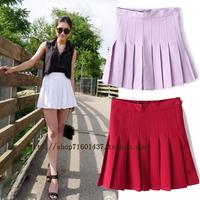 Fashion vintage aa cute pleated skirt tennis ball  small short skirt high waist skirt bust female