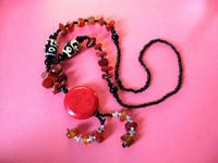 free shipping 1pcs Quadripartite tibetan jewelry bead necklace