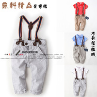 Baby clothes summer male child 2014 bib pants children pants casual trousers child trousers