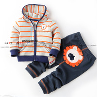 Child clothes children's clothing male child set top outerwear sweatshirt trousers spring and autumn set baby boy set