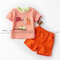 Summer children's clothing male child set short-sleeve small clothing shorts beach pants t-shirt baby boy set