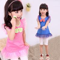 free shipping 2014 children's clothing summer female child set baby sleeveless tank dress