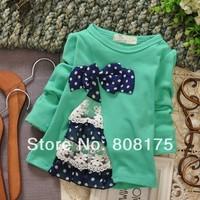 2014 spring boys clothing girls clothing baby child long-sleeve T-shirt tx-128 basic shirt