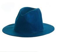 Wholesale 6pcs COOL Blank Men Wool Fedora Hats NEW Plain Women Winter Trilby Caps Mens Autumn Felt Cap Womens Spring Fedoras Hat