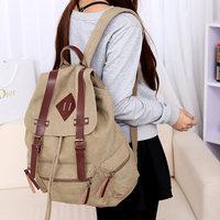 Free shipping   strap canvas school bag large capacity travel bag  women backpack pupil backpacks high school bookbag