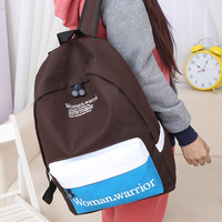 Free shipping Preppy style    school bag casual double-shoulder canvas bag  women backpack pupil backpacks high school bookbag