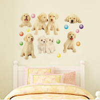 Child combination of home decoration stickers fashion three generations of wall stickers cartoon pet dog jm8025