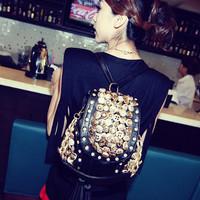 2013 button bag diamond tassel bucket bag backpack