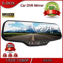 "Free Shipping C20 Car DVR Mirror Novatek 96650 Full HD 1080P 30FPS 12.0MP CMOS 4.3""LCD 170 Degree View Angle Rearview Car mirror(China (Mainland))"