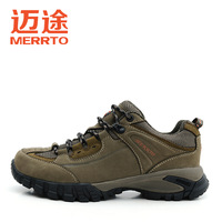 2014 first layer of cowhide breathable wear-resistant male hiking shoes walking shoes outdoor m18108