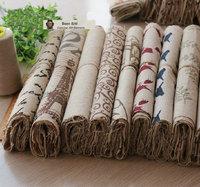 Zakka Linen coarse hemp patch 25cm*25cm 20pcs cotton Fabric rural style Quilting Patchwork Tilda Fbric Sewing DIY handwork try