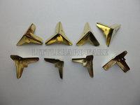 free shipping 100PCS 16mm golden metal  Corne rfor jewelry Box