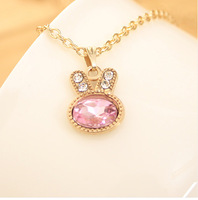 Four colors Euramerican popular  jewelry  Raving Rabbids  pendant necklace   high quality Clothing chain