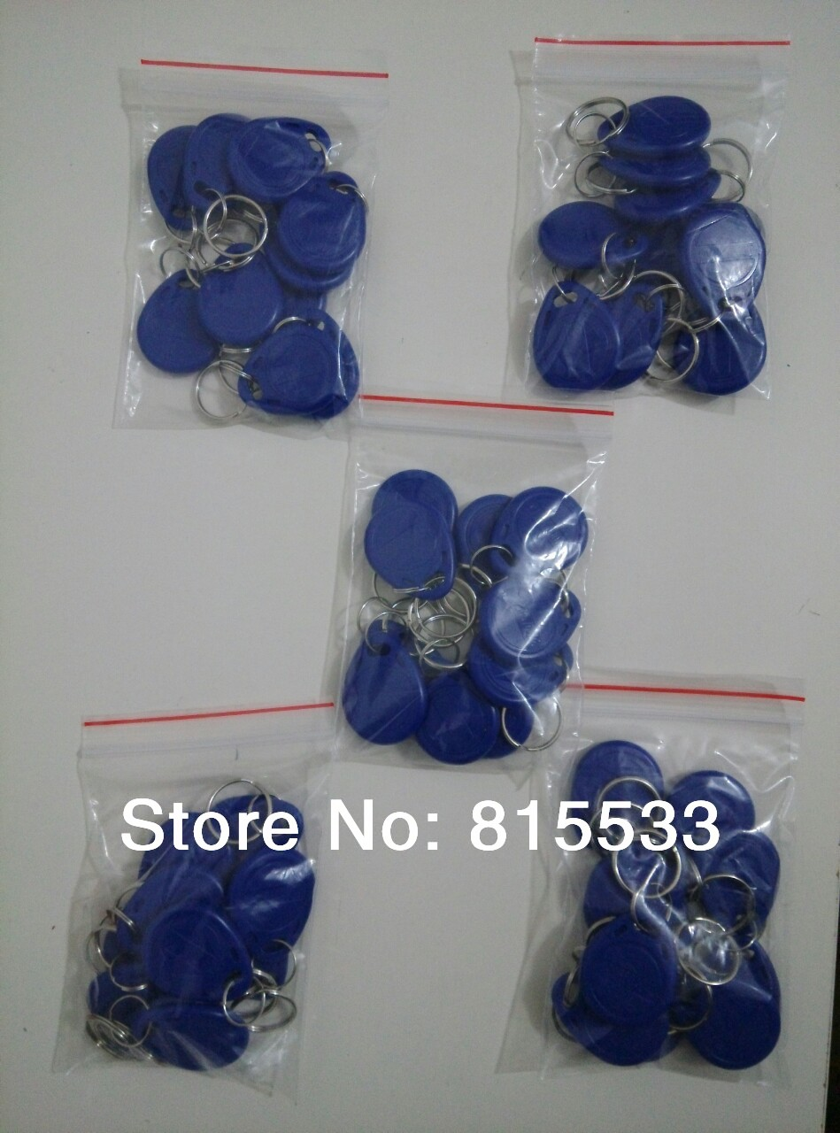 Free shipping 50pcs/lot RFID key fobs 125KHz proximity ABS key tags/for access control with TK4100/EM 4100 chip(China (Mainland))