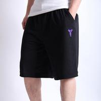Black Manba Kobe 100% Cotton High Quality Basketball Shorts Black Grey Basketball Big Short Shorts Sportwear For Men