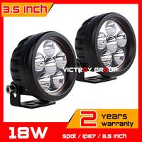 2pcs 18w LED Work Light 10-30v IP67 SUV Truck  ATV Fog Light Car Offroad Spot CREE LED Worklights New Arrival External Light
