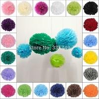 "Mixed 4 Sizes 1Pc*(8"" + 10"" + 12"" + 14"") Tissue Paper POMPOMS Flower Balls Home Decor  Festive & Party Supplies Wedding Favors"