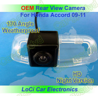 Free shipping! HD Rear View HondaCar Accord 2009- 2011 CCD night vision car reverse camera auto license plate light camera
