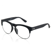 2014  vintage big box glasses frame eyeglasses frame box plain mirror frame glasses with box  black