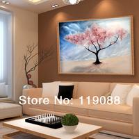 Diy diamond painting cross stitch diamond cherry tree rhinestone pasted painting square drill 50*35cm