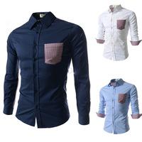New 2014 Camisas Male Shirt Casual Shirts Men Slim Fit Mens Dress Shirts Long Sleeve Social Shirt chemise homme