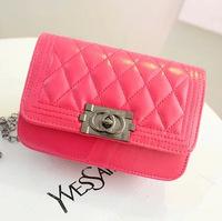 free shipping  new fashion pu shoulder bag Lingge small fragrant wind shoulder diagonal bag ladies handbags