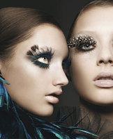 5 pairs exaggerated eyelashes gaga  fashion atrical eyelashes masquerade feather eyelashes  Free Shipping