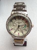 2014 hot women rhinestone watches fashion luxury stainless steel japan movt quartz watch