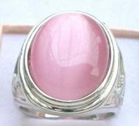Wholesale cheap Pink Opal 18KWGP Ring Size: 8. 9. 10. 11.12 / Free Shipping