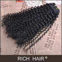 """Hot Selling Queen Hair Retail 8""""-30"""" Virgin Brazilian Hair Extension Wave Curly Natural Color Dyeable about 3.5 oz/pc"""