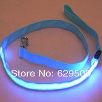 Drop shipping 20pcs/lot Pets Belt Safety Leash Rope LED Flashing Dog Traction Training Rope Belt Leash