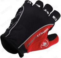 New Castelli Rosso Corsa Bike Bicycle Fingerless Cycling Gloves Outdoor Sports Gloves Black/red  color S,M,L,XL size Free ship