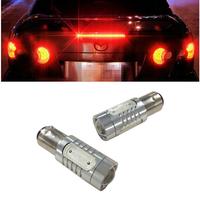 Free Shipping 2 x 1157 High Power 6W Red Car Brake Reverse LED Light for Car 12V