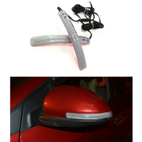 Free Shipping 2 x 9 LED Car Vehicle Side Door Mirror Soft Turn Signal Light Double Color 12V