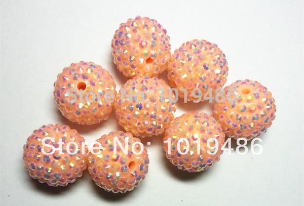 20MM Spring light orange 100pcs / lot Chunky AB Resin