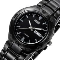 Fashion Brand Skmei business man wristwatch, original quartz calendar date stainless steel strap waterproof classic watch