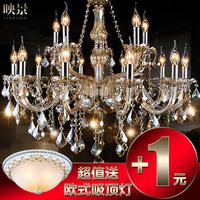Brief fashion crystal pendant lamp luxury art candle large lighting