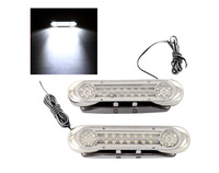 Free Shipping 2 x 28 LED White DRL Daylight Running Light Waterproof Daytime Driving Light Fog Lamp