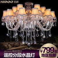 Fashion crystal lamp lighting american lamp cover modern brief hybrid-type stair pendant light